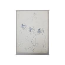 LUCRETIA  MIHAIL SILION ,  ' PUIU IN BALCON '   , DESEN ,  1937