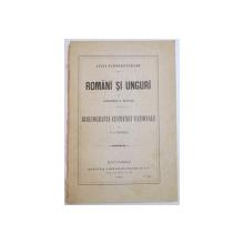 Lupta nationalitatilor  Romani si unguri 1895  Alexandru G. Djuvara