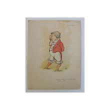 M . VACARESCU , ' J ' AI BEAU CHERCHER , JE NE TROUVE PLUS D ' HOMME ...CHIC ' , CARICATURA , LITOGRAFIE de pictorul NICOALE PETRESCU - GAINA 1871 - 1931 , 1898