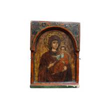 Maica Domnului cu Pruncul, Icoana Greceasca, cca. 1700