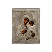Maica Domnului cu Pruncul, Icoana Ruseasca cu ferecatura din argint, 1895