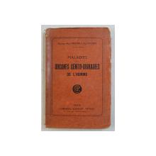 MALADIES DES ORGANES GENITO - URINAIRES DE L ' HOMME par HENRI DROUIN et PAUL POUSSIN , 1924