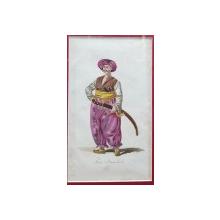 Mameluc, Gravura colorata, inceput de secol 19