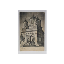 MANASTIREA CURTEA DE ARGES , CARTE POSTALA , 1906