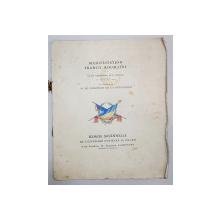 MANIFESTATION FRANCO ROUMAINE, GRAND AMPITHEATRE DE LA SORBONNE 28 JUILLET 1917