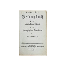 Manual de cantece crestine pentru uzul comunitatilor crestine din Transilvania - 1823