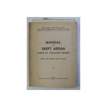 MANUAL DE DREPT AERIAN . NORME DE CIRCULATIE AERIANA PENTRU UZUL SCOLILOR CIVILE DE PILOTAJ , 1949