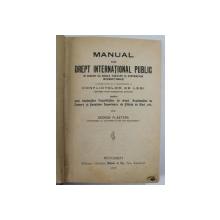 MANUAL DE DREPT INTERNATIONAL PUBLIC ...de GEROGE PLASTARA, BUC. 1927