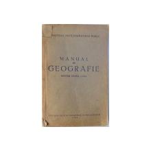 MANUAL DE GEOGRAFIE PENTRU CLASA A IX-a, 1953