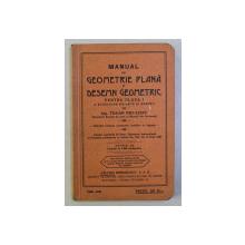 MANUAL DE GEOMETRIE PLANA SI DESEMN GEOMETRIC PENTRU CLASA I A SCOALELOR DE ARTE SI MESERII de TRAIAN NICULESCU , 1930 - 1931