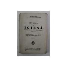 MANUAL DE IGIENA PENTRU CLASA VIII - A SECUNDARA BAIETI SI FETE de DOCTOR G. BANU , 1931