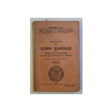 MANUAL DE ISTORIA ROMANILOR PENTRU CLASA A IV - A SECUNDARA de GHEORGHE LAZAR ...NICOLAE CEAUSANU , 1936