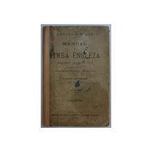 MANUAL DE LIMBA ENGLEZA - METODA H . PLATE de MARCEL SCHONKRON , 1913