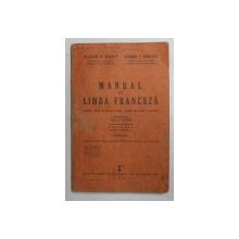 MANUAL DE LIMBA FRANCEZA PENTRU LICEE SI PENTRU TOATE SCOLILE DE GRAD SECUNDAR de BLANCHE M. BERNEY si ELEONORA V. BADULESCU , ilustratii de GIULIO GATTI , 1941