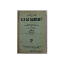 MANUAL DE LIMBA GERMANA PENTRU CLASA A V -A SECUNDARA DE BAIETI SI FETE de GH. COMAN si N . I. RUSSU , 1937