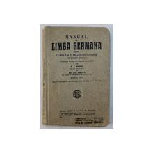 MANUAL DE LIMBA GERMANA PENTRU CLASA V SI VI SECUNDARA ( ANUL II) DE BAIETI SI FETE de N. I. RUSSU si GH. COMAN , EDITIE INTERBELICA