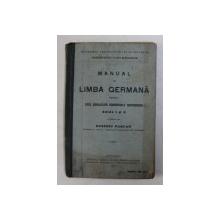 MANUAL DE LIMBA GERMANA PENTRU UZUL SCOALELOR COMERCIALE SUPERIOARE , ANUL I si II de EUSEBIU PASCAN , 1912