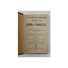 MANUAL DE LIMBA ROMANA PENTRU CLASA VIII A SCOALEOR SECUNDARE DE BAIETI SI FETE de MIHAIL DRAGOMIRESCU si N. I. RUSU ,EDITIA I , 1936
