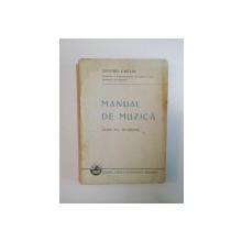 MANUAL DE MUZICA , CLASA A IV A SECUNDARA de DIMITRIE CUCLIN , 1937