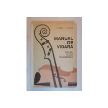 MANUAL DE VIOARA PENTRU LICEELE PEDAGOGICE de P. TIPORDEI , M. NICULESCU , 1971