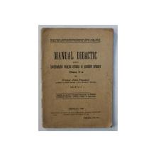 MANUAL DIDACTIC PENTRU INVATAMANTUL RELIGIOS ORTODOX AL SCOALELOR PRIMARE , CLASA II- A de PETRU POPESCUL , 1928