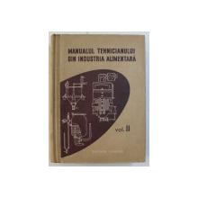 MANUALUL TEHNICIANULUI DIN INDUSTRIA ALIMENTARA , VOLUMUL II de N . SATINOVER ...M . ZOLTAN , 1957