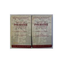 MANUEL DE PSYCHIATRIE POUR LES ETUDIANTS ET LES PRATICINES TOM. I - II par D. HENDERSON , R. D. GILLESPIE , 1955