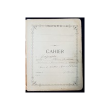 MANUSCRIS , CAIET DE GEOGRAFIE - CATHERINE ROUSSENESCO , CRAIOVA , 1890