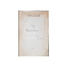 Manuscris, Curs de drept constitutional, lt. Ciobanu - Iasi, 1926