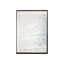 "Manuscris Horia Lovinescu, ""Avalansa"""