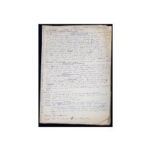 """Manuscris Horia Lovinescu, """"Moartea unui artist"""""""