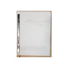 """Manuscris Horia Lovinescu, """"O autobiografie"""", 1976"""