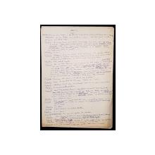 """Manuscris Horia Lovinescu, """"Surorile Boga"""""""