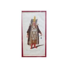 Mare conducator de ieniceri, Gravura colorata, inceput de secol 19