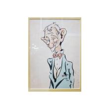 Maresal Averescu - Caricatura realizata de Mircea Tacorian (1895-1978)