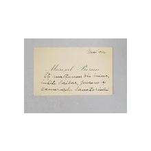 Maresal Prezan, Carte de vizita adresata Generalului Ion Saidac, 1932