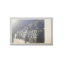 MARESALUL CONSTANTIN PREZAN TRECAND IN REVISTA OFITERI SUPERIORI , FOTOGRAFIE TIP CARTE POSTALA , INCEPUTUL SECOLULUI XX