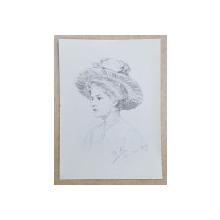 MARIA KNACKFUSS TANARA CU PALARIE, 1909