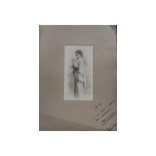 MARIOARA CARP , FOTOGRAFIE de MANDY , DATATA 1912 , CONTINE DEDICATIE *