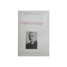 MARTURISIRI de GENERAL RADU R. ROSETTI , VOL. I  - II , 1940 , COLEGAT DE DOUA CARTI , DUBLA  DEDICATIE*