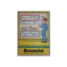 MATEMATICA  - MANUAL PENTRU CLASA A - II - A de DUMITRU ROSCA ...LIDIA MANDRIC , 1983