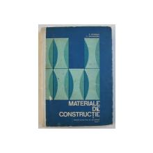 MATERIALE DE CONSTRUCTII  - MANUAL PENTRU LICEE DE SPECIALITATE , ANUL I de N . NICOLESCU si C. DRAGHICESCU , 1972