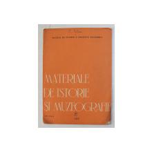 MATERIALE DE ISTORIE SI MUZEOGRAFIE - ARTICOL de C. SERBAN ,  , EXTRAS , 1965 , DEDICATIE *