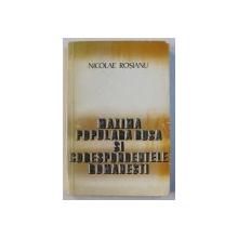 MAXIMA POPULARA RUSA SI CORESPONDENTELE ROMANESTI de NICOLAE ROSIANU , 1979
