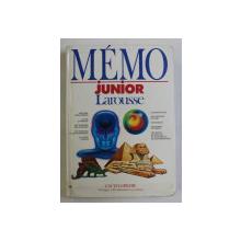 MEMO JUNIOR - LAROUSSE , 1990