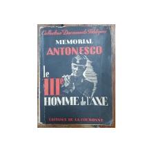 MEMORIAL ANTONESCO, le III e HOMME de l'AXE - PARIS, 1950