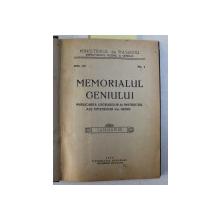 MEMORIALUL GENIULUI  - PUBLICAREA LUCRARILOR DE INSTRUCTIE ALE OFITERILOR DIN GENIU , REVISTA , COLEGAT DE SASE NUMERE  ( 1 - 6 ) APARUTE IN PERIOADA IANUARIE - IUNIE , 1925