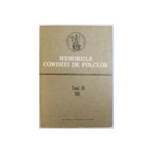 MEMORIILE  COMISIEI DE FOLCLOR de ZOE DUMITRESCU  BUSULENGA .... I. OPRISAN  , TOMUL III , 1989