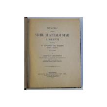 MEMORIU ASUPRA VECHEI SI ACTUALEI STARI A MOLDOVEI PRESENTAT LUI ALEXANDRU VODA IPSILANTE , DOMNU MOLDOVEI LA 1787 de COMITELE D ' HAUTERIVE , 1902