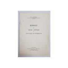 MEMORIU DE TITLURI , ACTIVITATE SI LUCRARI STIINTIFICE de DR. I. RADVAN , 1942 . LIPSA COPERTA SPATE *